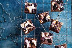 Skinny choc-cherry brownies