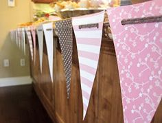 Seriously Daisies: Pink & Gray Baby Shower {Food & Drinks Bar}