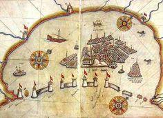 Carte de Venise par le grand Géographe Ottoma  Piri Reis