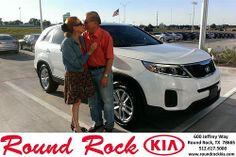 Thank you to Katheran Acmorsoni on your new 2014 Kia Sorento from Ruth Largaespada and everyone at Round Rock Kia!