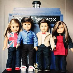 Rose, Ten, Eleven, and Clara: American Girl Dolls :) Is it weird that I totally want these...?