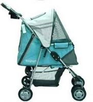 This pet stroller is great looking and fully functional so you can stroll safely with your pet. Safety belt keeps you pet safe.