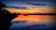 ruudc's photo: Sunset at the Loire,Orleans in France
