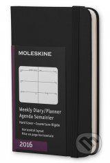 Moleskine – 12-mesacny cierny horizontalny diar 2016