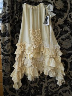 BN RITANOTIARA LONG GYPSY SHABBY CHIC BOHO HIPPY LAGENLOOK VINTAGE LACE SKIRT OS #Fashion #Style #Deal