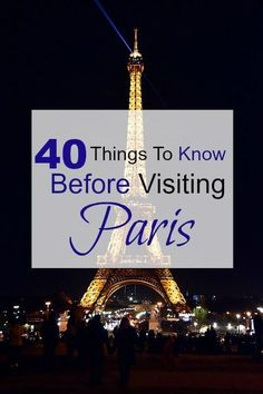 Paris, the City of Lights, is a dream trip for Americans. We gathered 40 things to know before visiting Paris. Everything to know for a first time to Paris.: