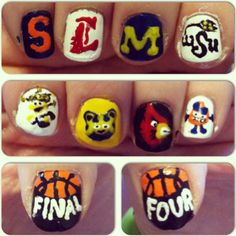 March madness nails I did a few years ago