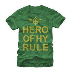 Nintendo Legend Of Zelda Hyrule Hero Green T-Shirt