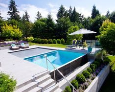 Edge Auto Rental Contemporary Pool Also Alka Pool Autocover Automatic Cover Concrete Glass Panel Infinity Edge Negative Edge Pool Chairs Pool Construction Pools Retainer Wall Steps Swimming Pool Terraced Patio Umbrella Vanishing Edge White Plaster Infinity Pools, Infinity Pool Backyard, Infinity Edge Pool, Backyard Pool Designs, Small Backyard Landscaping, Swimming Pools Backyard, Swimming Pool Designs, Backyard Bar, Landscaping Plants