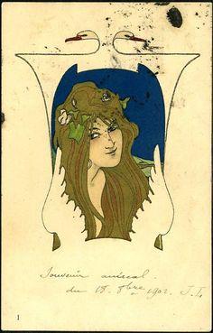Leda and the Swan - Raphael Kirchner