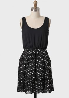 Guiding Light Polka Dot Tiered Dress | Modern Vintage Dresses