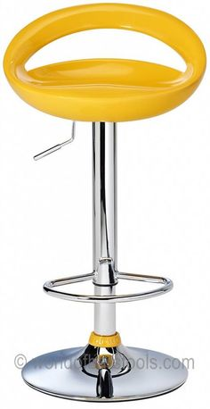 Crescent Bar Stool Yellow