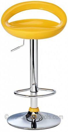 Crescent Bar Stool Yellow