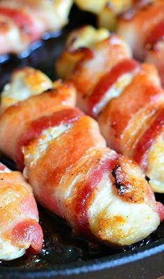Bacon Wrapped Chicken Strips