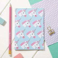 A6 Sketchpad Miss unicorno Notebook  Notepad di DizzyMissJames