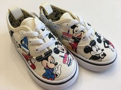 3bcb9ef3621 VANS New Authentic Elastic Lace Disney Mickey s 90th Toddler Size USA 5   fashion  clothing  shoes  accessories  babytoddlerclothing  babyshoes  (ebay link)