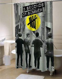 5 sos last boys shower curtain #showercurtain #showercurtains #curtains #bath #bathroom #homeandliving