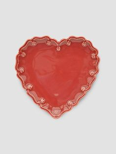 Mesa International Decorative Heart Plate Handcrafted In Hungary. 8