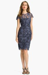 MOB Patra Crocheted Venise Lace Sheath Dress
