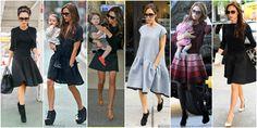 sukienka rozkloszowana victoria beckham Victoria Beckham, Dresses, Fashion, Gowns, Moda, La Mode, Dress, Fasion, Day Dresses