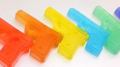 DIY How to Make 'Colors Guns Gummy Pudding Jelly' Learn Colors Numbers C...