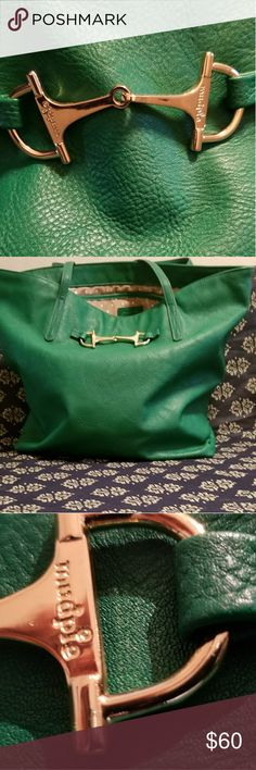 SPRING GREEN TOTE This green tote bag is totally ready for spring. It's large interior makes for a great place to store all of your necessities! The gold buckle takes the bag to a new level of class. Anywhere from a walk around the mall to a walk on the beach, this bags got you covered Mud Pie Bags Totes