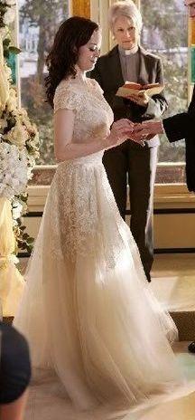 50s style wedding dress Paige Matthews wedding #charmed