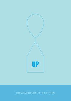 Up (2009) ~ Minimal Movie Poster by Tamas Horvath #amusementphile