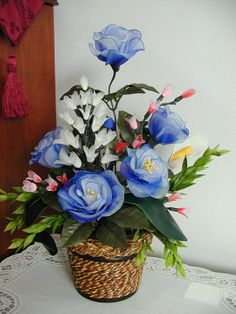 Handmade Vibrant  Flowers Arrangment by LiYunFlora on Etsy, $35.00