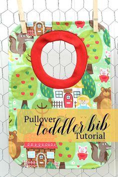 Pullover toddler bib tutorial