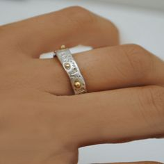 Set of Sea urchin wedding rings by Florencehandmade on Etsy