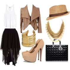 """""""Day to Night"""" by kekek on Polyvore #outfit #look #style"""