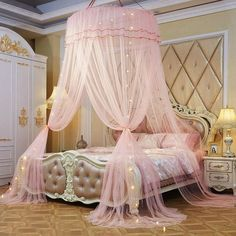 Sleep like the royalty you are under the elegant Juliette bed canopy! Double as protection from nasty mosquitoes! Made from a premium cotton blend. Measures approximately x x Free Worldwide Shipping & Money-Back Guarantee Cute Bedroom Ideas, Cute Room Decor, Girl Bedroom Designs, Room Ideas Bedroom, Bedroom Decor, Nursery Ideas, Teen Girl Bedrooms, Princess Bedrooms, Tween Girl Bedroom Ideas
