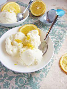 Meyer Lemon-Buttermilk Ice Cream by katieatthekitchendoor #Ice_Cream #Meyer_Lemon #Buttermilk