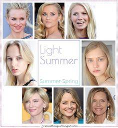 Light Summer, Summer-Spring seasonal color celebrities by…