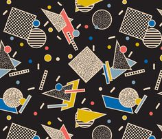 Memphis Inspired Pattern 8 fabric by season_of_victory on Spoonflower - custom fabric