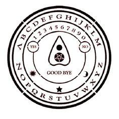 11X11 Round Ouija Board STENCIL Pentacle Star/Pentagram/Planchette/Supernatural