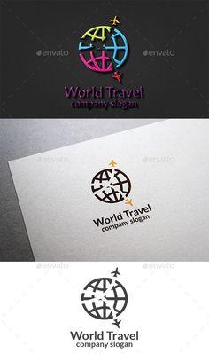 World Travel Logo: Symbol Logo Design Template created by design_big. Travel And Tours Logo, Travel Agency Logo, Travel Logo, Travel Slogans, Travel Quotes, Logo Design Template, Logo Templates, Turismo Logo, Aviation Logo