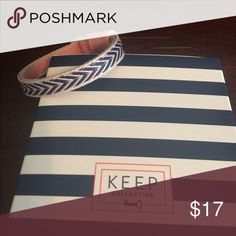 Keep collective Woven navy chevron/pink stripe keeper. Never worn keep collective Jewelry Bracelets