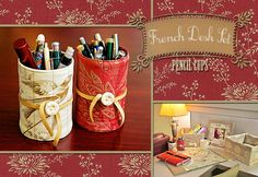 French Desk Set: Pencil Cups