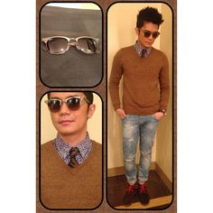Casual well done Vhong Navarro, Dapper, Round Sunglasses, Ootd, Brown, Instagram Posts, Casual, Leather, Fashion