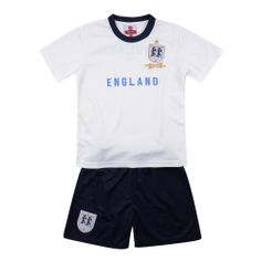 England Replica Airtex Boys 2 Piece Polo Shirt And Shorts Set. White 2-7 Years Price: £4.99