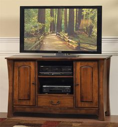 Amish Woodbury TV Stand | Amish TV Stands | Amish Living Room Furniture 44572 56'