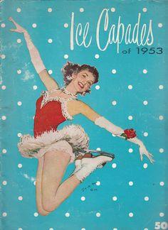 Vintage 1953 Ice Capades Program Brigadoon by QuinsippiMercantile Vintage Ephemera, Vintage Paper, Vintage Ads, Vintage Images, Vintage Sweets, Vintage Book Covers, Arte Pop, Pin Up Art, Christmas Pictures