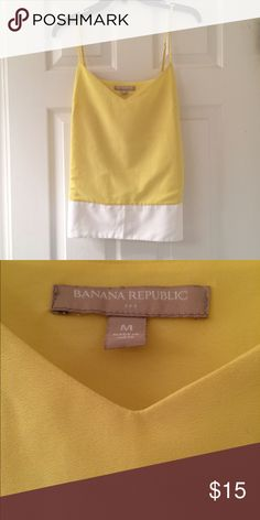 Yellow & White Color Block Tank Yellow & white color block tank from Banana Republic. Worn only a couple of times and still in perfect condition! Banana Republic Tops Tank Tops