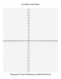 Graph Paper -- 0.5 cm Coordinate Grid Paper