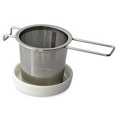 FORLIFE Extra-fine Tea Infuser and Porcelain Dish Set