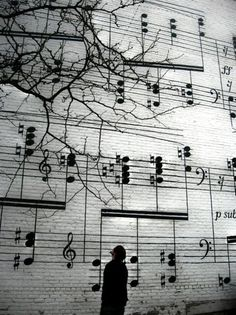 "Schmitt Music Mural in downtown Minneapolis (near the corner of 10th Street and Marquette Avenue) -- the music is Maurice Ravel's ""Gaspard de la Nuit."" My first office was next door."