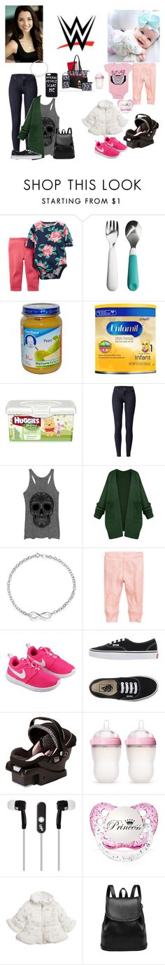 """""""Driving to Des Moines, IA  for SmackDown taping with Kailey - Evelyn"""" by kimberly34 ❤ liked on Polyvore featuring OXO, Gerber, Huggies, CO, Avon, Bling Jewelry, NIKE, Vans, Safety 1st and Comotomo"""