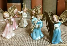 Check out this item in my Etsy shop https://www.etsy.com/listing/477996570/vintage-1960s-miniature-plastic-angel